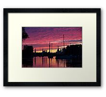 Of Yachts and Skylines Framed Print
