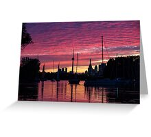Of Yachts and Skylines Greeting Card