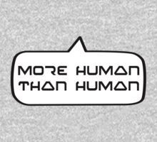 More Human than Human by Bubble-Tees.com One Piece - Long Sleeve