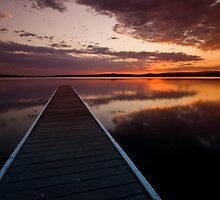 Warners Bay Sunset 4 by Mark Snelson