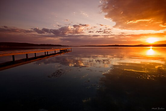 Warners Bay Sunset 6 by Mark Snelson