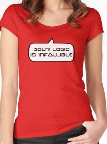 YOUR LOGIC IS INFALLIBLE by Bubble-Tees.com Women's Fitted Scoop T-Shirt