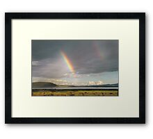 Lake Nakuru rainbow Framed Print