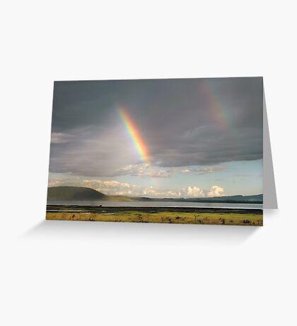 Lake Nakuru rainbow Greeting Card