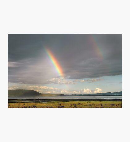 Lake Nakuru rainbow Photographic Print