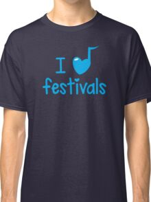 I heart (music note) FESTIVALS Classic T-Shirt