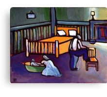 1940s Bathnight (from my original acrylic painting ) Canvas Print