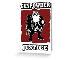 Sniper - GunPowder Justice Greeting Card