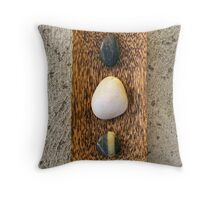 Zen Pebbles Throw Pillow