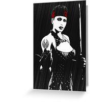 Dark Sword Greeting Card