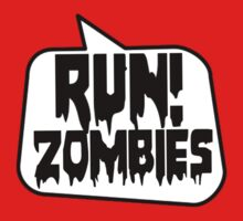 RUN! ZOMBIES by Bubble-Tees.com Kids Clothes