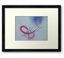 The Red Arrows and the Amazing  Coincidence Framed Print