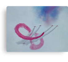 The Red Arrows and the Amazing  Coincidence Canvas Print