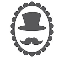 Top hat mustache man on a cameo CLASSY Photographic Print