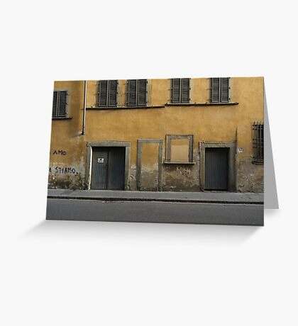 Florence streetscape Greeting Card