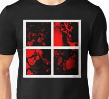Victory abstract red black white panel painting Unisex T-Shirt