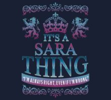 It's a SARA thing Kids Clothes