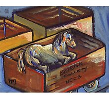 Injured pit pony (from my original acrylic painting ) Photographic Print