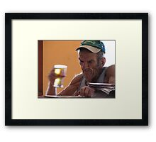 Fair Dinkum Bloke Framed Print