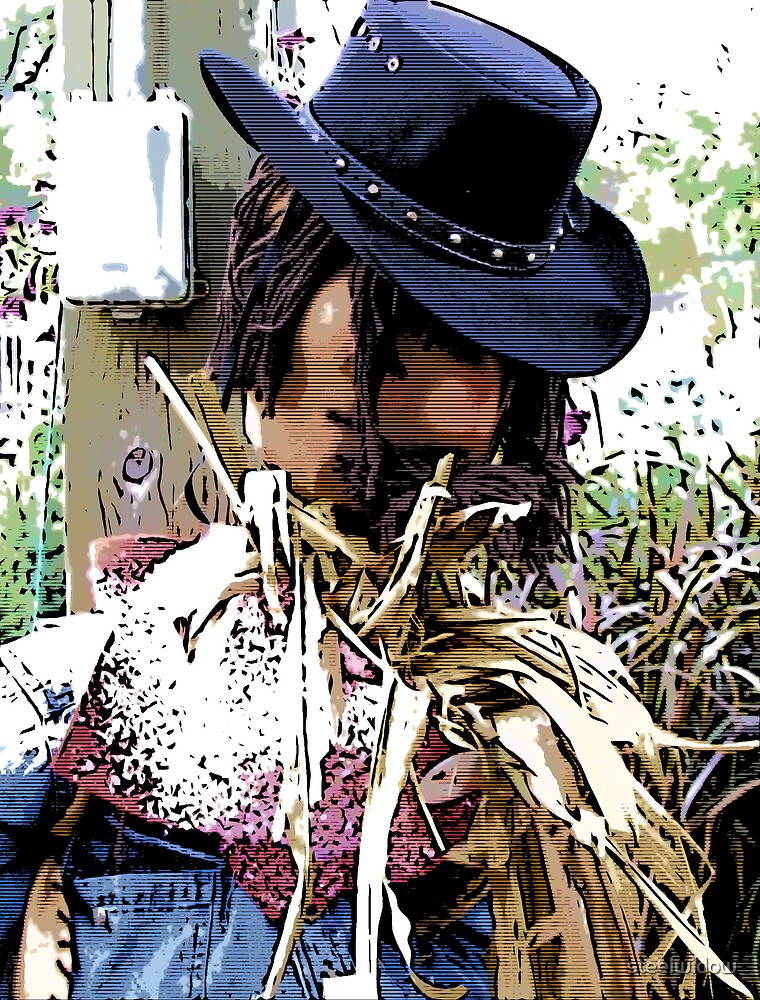 Comic Abstract Scarecrow by steelwidow