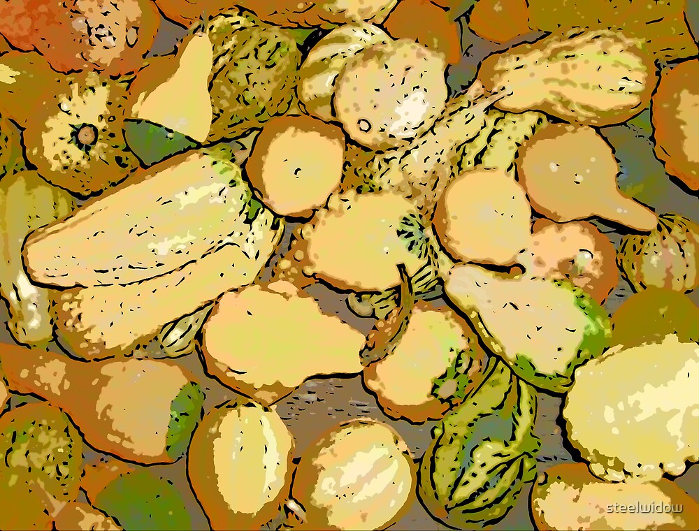 Comic Abstract Squash by steelwidow
