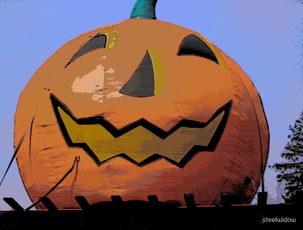 Comic Abstract Halloween Jack-O-Lantern by steelwidow