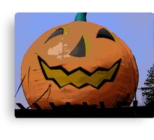 Comic Abstract Halloween Jack-O-Lantern Canvas Print