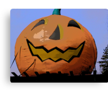 Comic Abstract Halloween Jack-O-Lantern Canvas Print