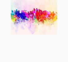 Doha skyline in watercolor background Unisex T-Shirt