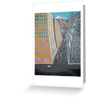 Downtown LA, CA winter Greeting Card