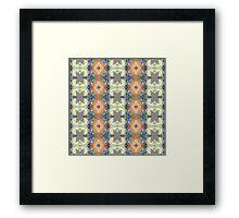 Earth Tones Pattern Framed Print