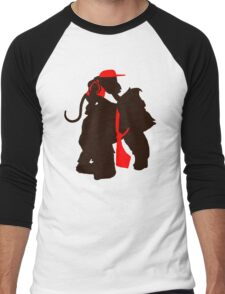 DK and Diddy (large print) Men's Baseball ¾ T-Shirt