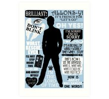 Doctor Who - 10th Doctor Quotes Art Print