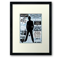 Doctor Who - 10th Doctor Quotes Framed Print