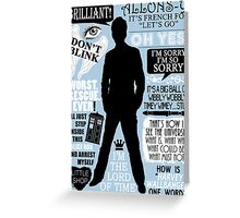 Doctor Who - 10th Doctor Quotes Greeting Card