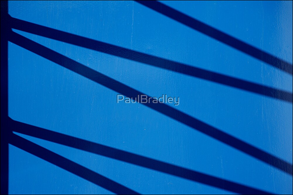 Abstract - Shadow on Blue by PaulBradley