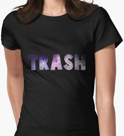 GALACTIC TRASH Womens Fitted T-Shirt