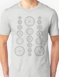 Cog Gear Wheels Pattern Unisex T-Shirt