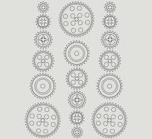 Cog Gear Wheels Pattern T-Shirt