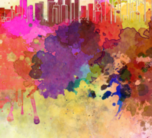 Hong Kong skyline in watercolor background Sticker