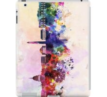 Washington DC skyline in watercolor background  iPad Case/Skin