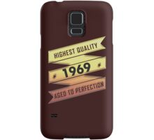 Highest Quality 1969 Aged To Perfection Samsung Galaxy Case/Skin