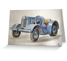 Davey Brown Tractor Greeting Card