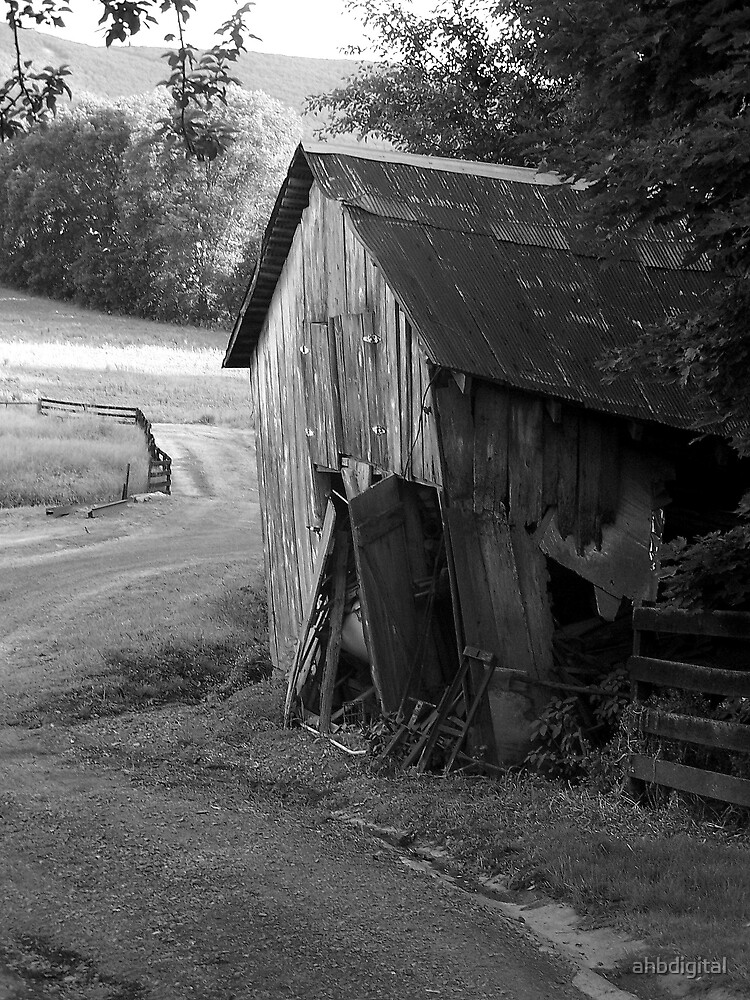 Old Worn Barn by ahbdigital