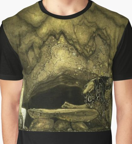 """John Bauer's Art """"The Princess And The Goblin"""" Graphic T-Shirt"""