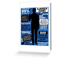 Archer - Sterling Archer Quotes Greeting Card