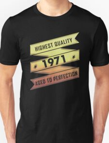 Highest Quality 1971 Aged To Perfection T-Shirt