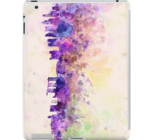 Singapore skyline in watercolor background iPad Case/Skin