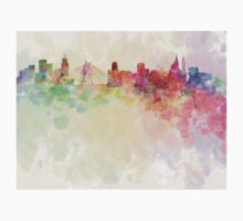Sao Paulo skyline in watercolor background Kids Clothes