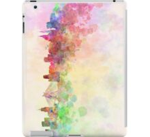 Sao Paulo skyline in watercolor background iPad Case/Skin